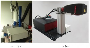 Dispositif de texturation laser en configuration de traitement interne (a) ou en surface (b)